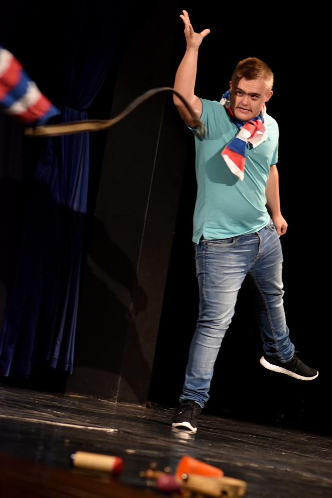 Lukáš Suchánek během představení Kdopak by se toho bál?